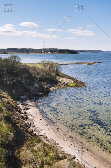 Walk in the nature reserve of the Holnis peninsula, Schleswig Holstein.