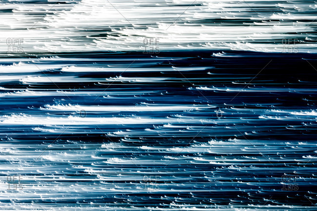 Abstract view of blue waters and waves
