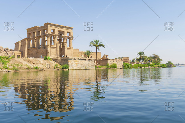 Temple of Philae on an island in Lake Nasser, Nile River, Aswan, Egypt, Africa