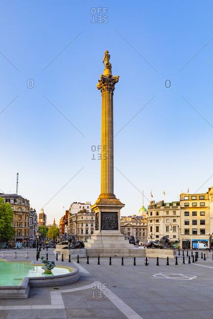 May 21, 2019: Nelson's Column, Trafalgar Square, London, England, UK