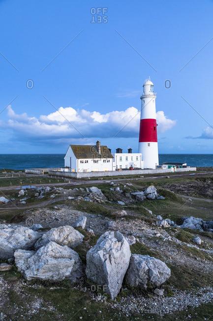 March 2, 2020: Portland Bill Lighthouse, Portland Bill, Dorset, England, UK