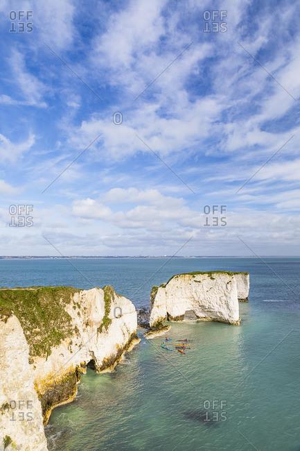 The Foreland or Handfast Point, Old Harry Rocks, Jurassic Coast, Swanage, Dorset, England, UK
