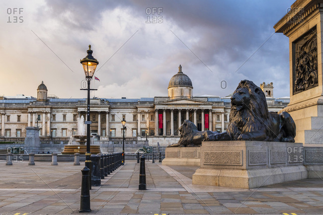 May 2, 2020: Trafalgar Square, London, England. UK