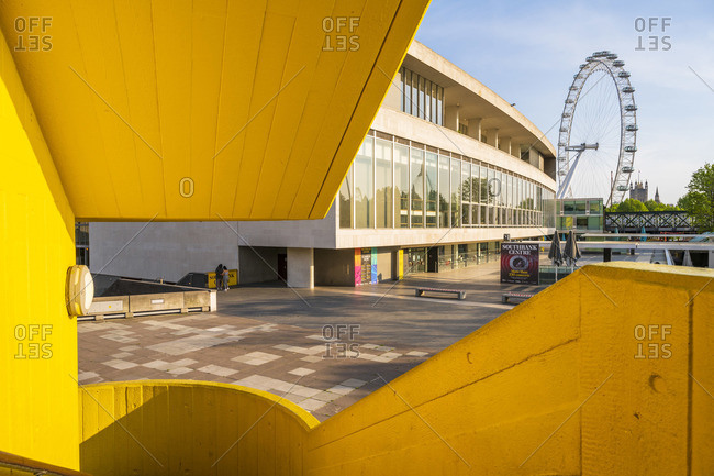 May 7, 2020: London eye as seen from the Southbank center, London, England, UK