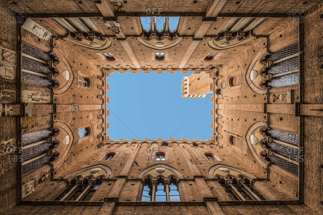 Tower of Mangia in Siena, Siena, Toscana, Italy
