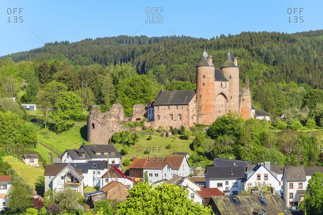 Bertradaburg castle, Murlenbach, Eifel, Rhineland-Palatinate, Germany