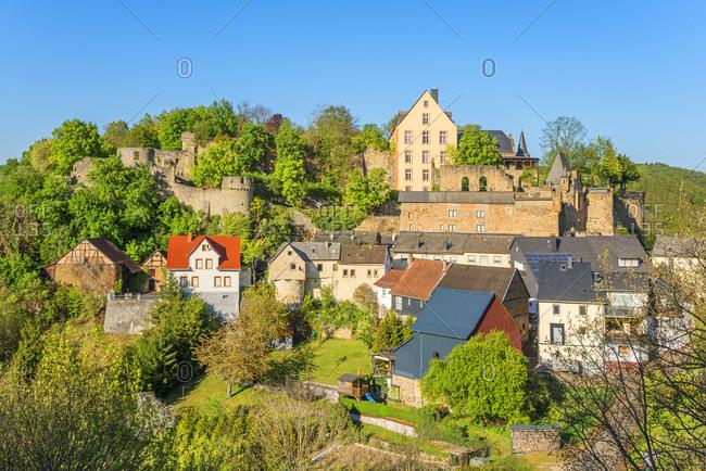 Dhaun castle at Dhaun, Hunsruck, Rhineland-Palatinate, Germany