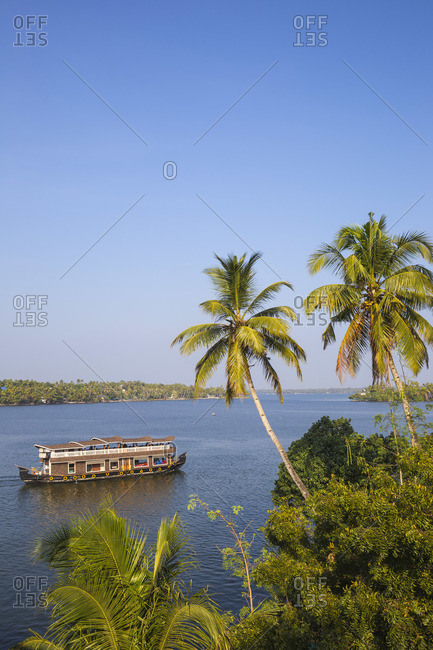 February 3, 2020: India, Kerala, Kollam, Ashtamudi Lake
