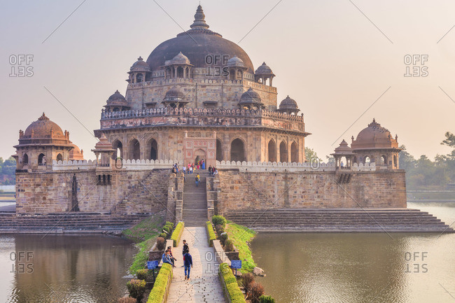 February 10, 2020: Tomb of Sher Shah Suri, 1545, Sasaram, Bihar, India