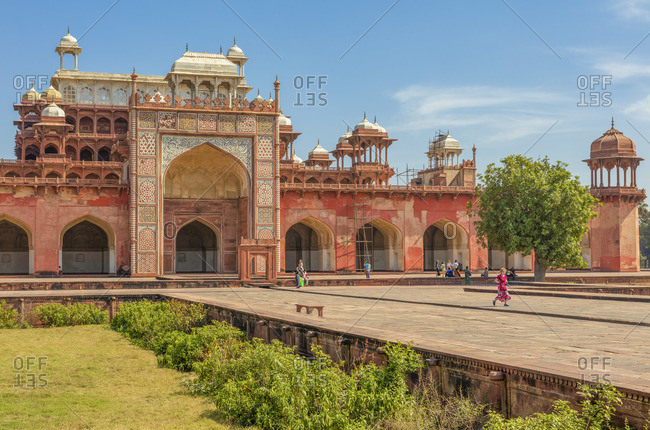February 14, 2020: Akbar's tomb, 1613, Sikandra, Uttar Pradesh, India