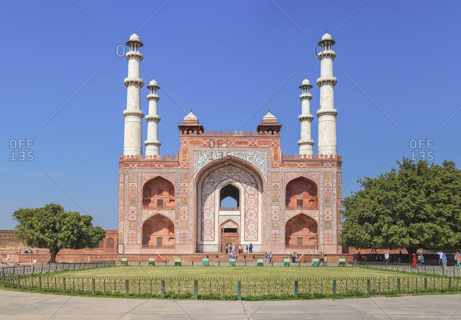 Akbar's tomb entrance, 1613, Sikandra, Uttar Pradesh, India