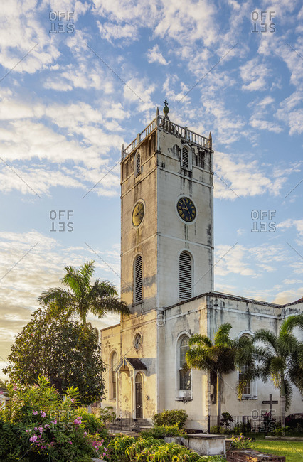 St Peter's Anglican Church at sunrise, Falmouth, Trelawny Parish, Jamaica