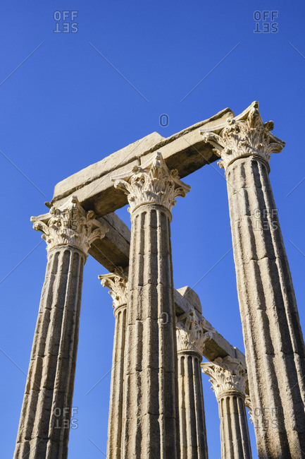 Roman Temple of Diana, a Unesco World Heritage Site, Evora, Portugal