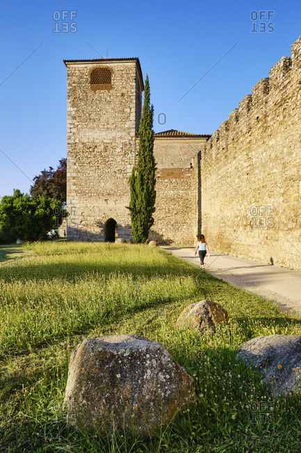 May 25, 2020: Walled city of Evora, a Unesco World Heritage Site, Portugal