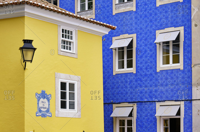 May 30, 2020: Traditional houses on the old town of Sintra, Portugal