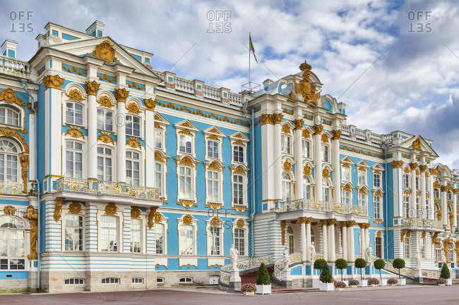 August 28, 2017: Catherine palace, Pushkin, Tsarskoye Selo, Russia