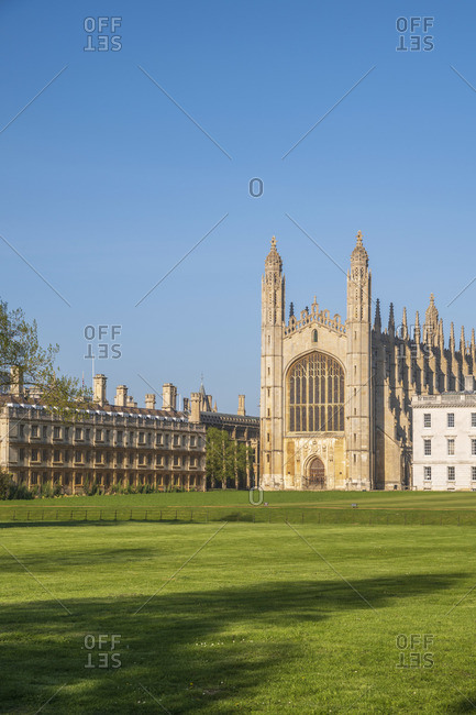 April 21, 2020: UK, England, Cambridgeshire, Cambridge, The Backs, King's College, King's College Chapel