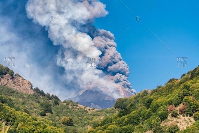 Mount Etna erupting, Catania, Sicily, Italy