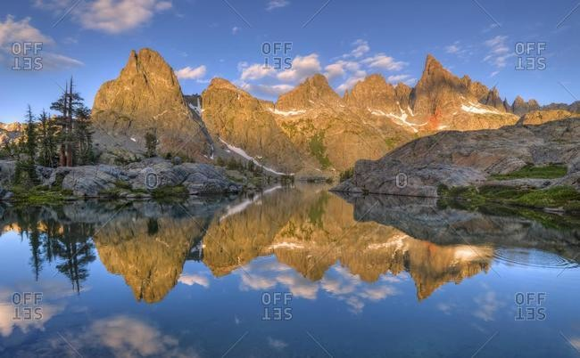 Reflection of Minarets in the Lake, Inyo National Forest, California, USA