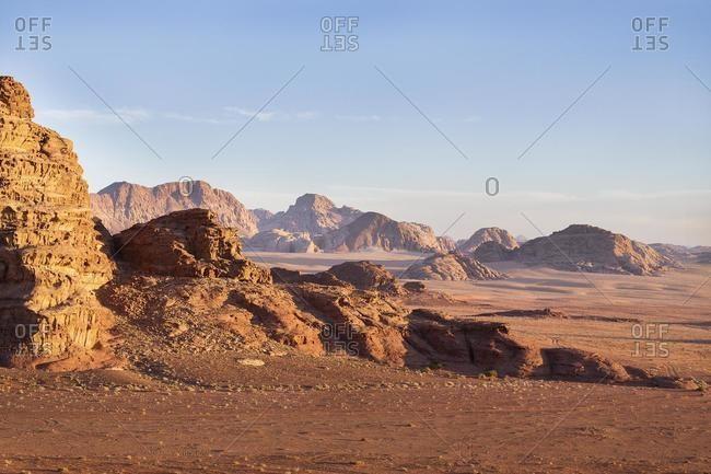 Wadi desert landscape in Oman