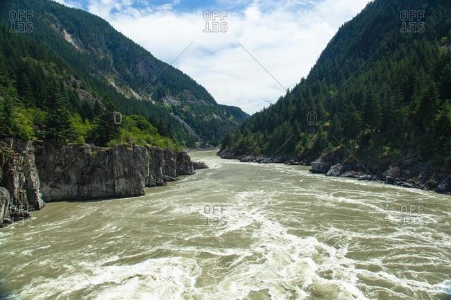 Rapids at Hell's Gate on the Fraser River, British Columbia, Canada