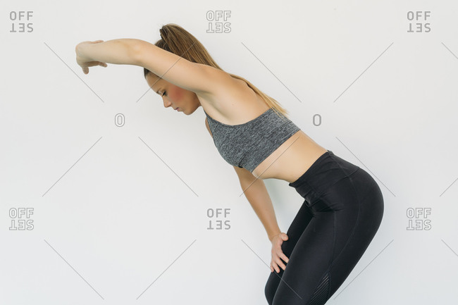 Woman doing progressive exercise