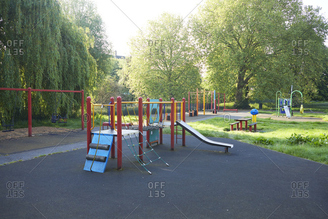 May 7, 2020: UK- England- London- Jungle gym in empty playground