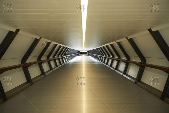 UK- England- London- Empty tunnel in London Docklands