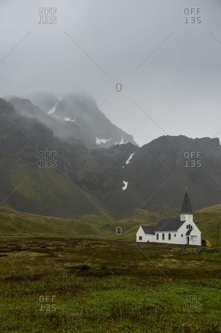 UK- South Georgia and South Sandwich Islands- Grytviken- Remote church in Antarctica