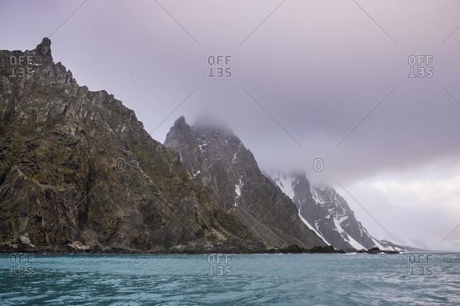 Rugged coastline of Elephant Island