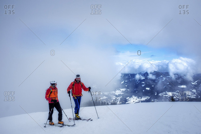 Men during ski tour- Hochkoenig mountain- Salzburger Land- Austria