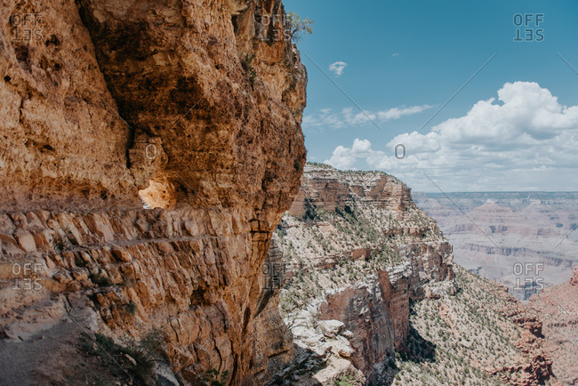 Rocky cliffs in Grand Canyon National Park in Arizona