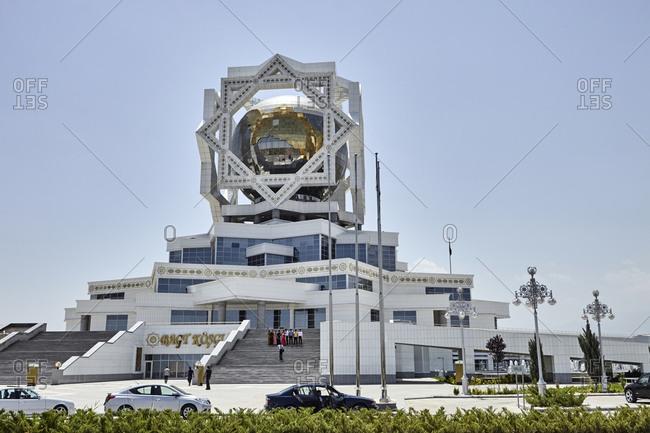 Ashgabat, Turkmenistan - May 17, 2016: The Wedding Palace is a civil registry building in Ashgabat