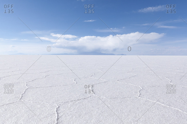 Salt texture in Uyuni salt-flat in Bolivia, South America