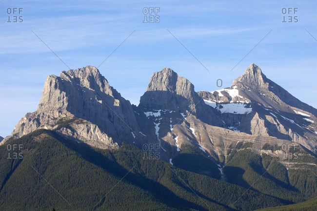 The Three sisters peaks at Canmore region in the Canadian Rockies, Alberta, Canada