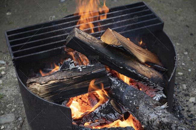 Campfire at Wells Grey Park, British Columbia, Canada