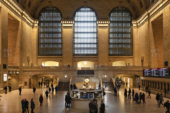 Midtown Manhattan, New York City, New York - February 22, 2020: Grand Central Station interior