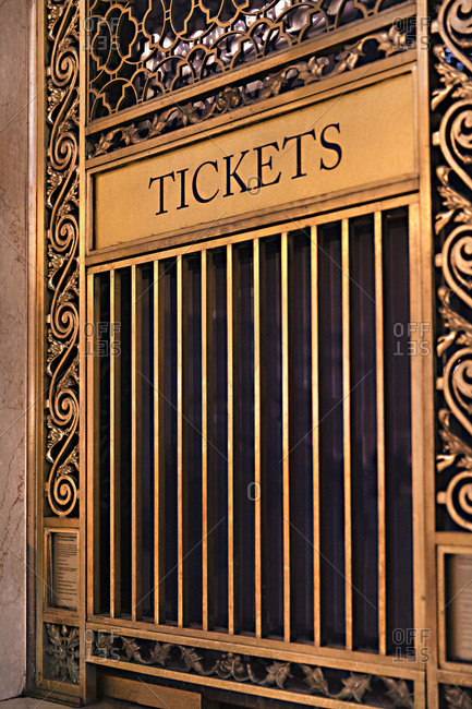 Closed ticket window in Grand Central Station, Midtown Manhattan, New York City