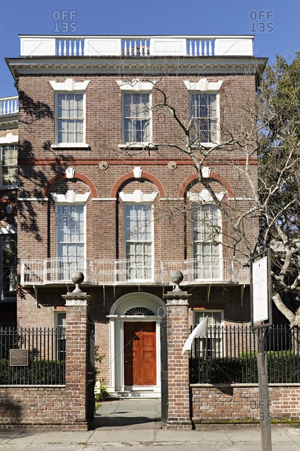 Charleston, South Carolina - March 6, 2019: The Nathaniel Russell House