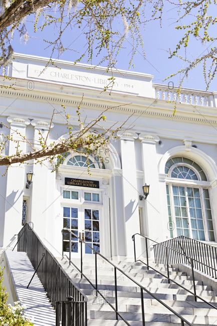 Charleston, South Carolina - March 6, 2019: The Charleston Library Society