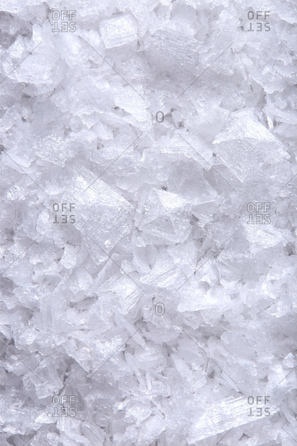 Crystalized sea salt up close