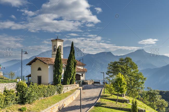 Pregasina, Riva del Garda, Trento Province, Trentino, Italy. The church of San Giorgio in Pregasina