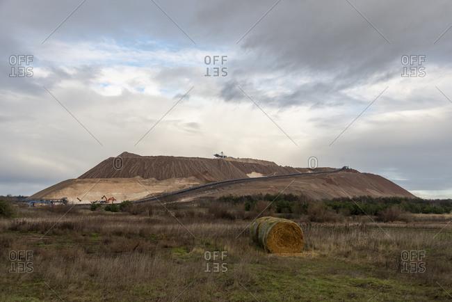 Germany, Saxony-Anhalt, Zielitz, view of the slag heap