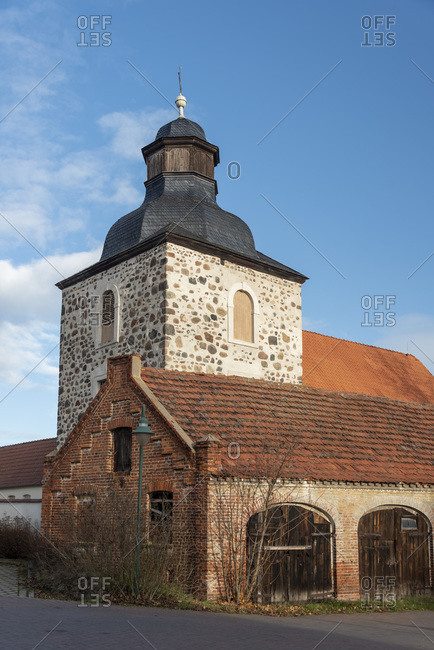Germany, Saxony-Anhalt, Rogatz, village church built in 1500
