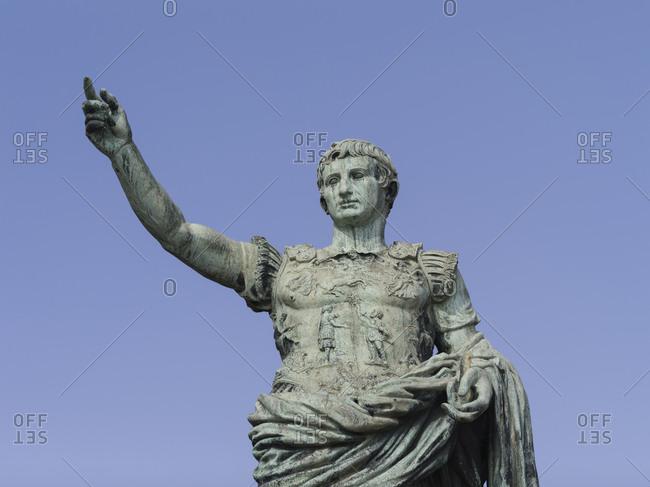 Roman statue in Naples, close up