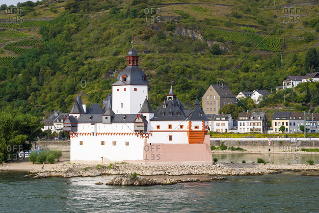 One of the most beautiful castles in the Middle Rhine, Pfalzgrafenstein bei Kaub, Unesco World Heritage Upper Middle Rhine Valley