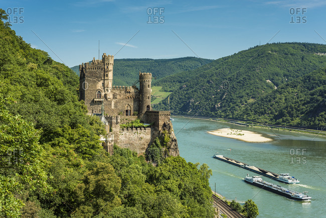 July 7, 2015: Rheinstein Castle near Trechtingshausen, Germany