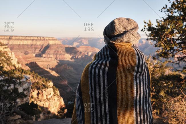 USA, United States of America, Utah, Arizona, Grand Canyon, National Park, woman enjoys the view
