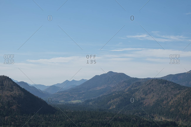 Mountainrange  landscape in Bavaria, Germany