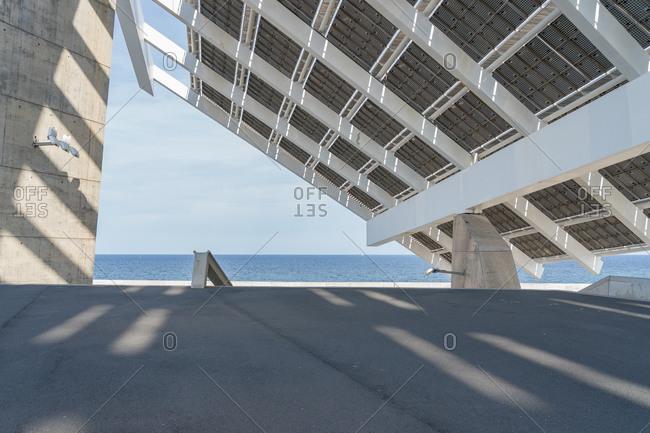 Solar Panel in the harbor Port Forum, Barcelona.